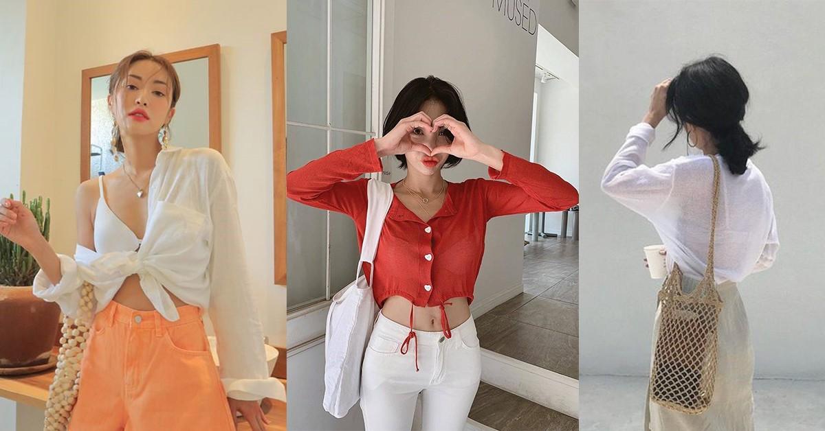 夏天防曬穿膩針織衫?學韓國小姐姐4種罩衫穿法,透視、棉麻是關鍵