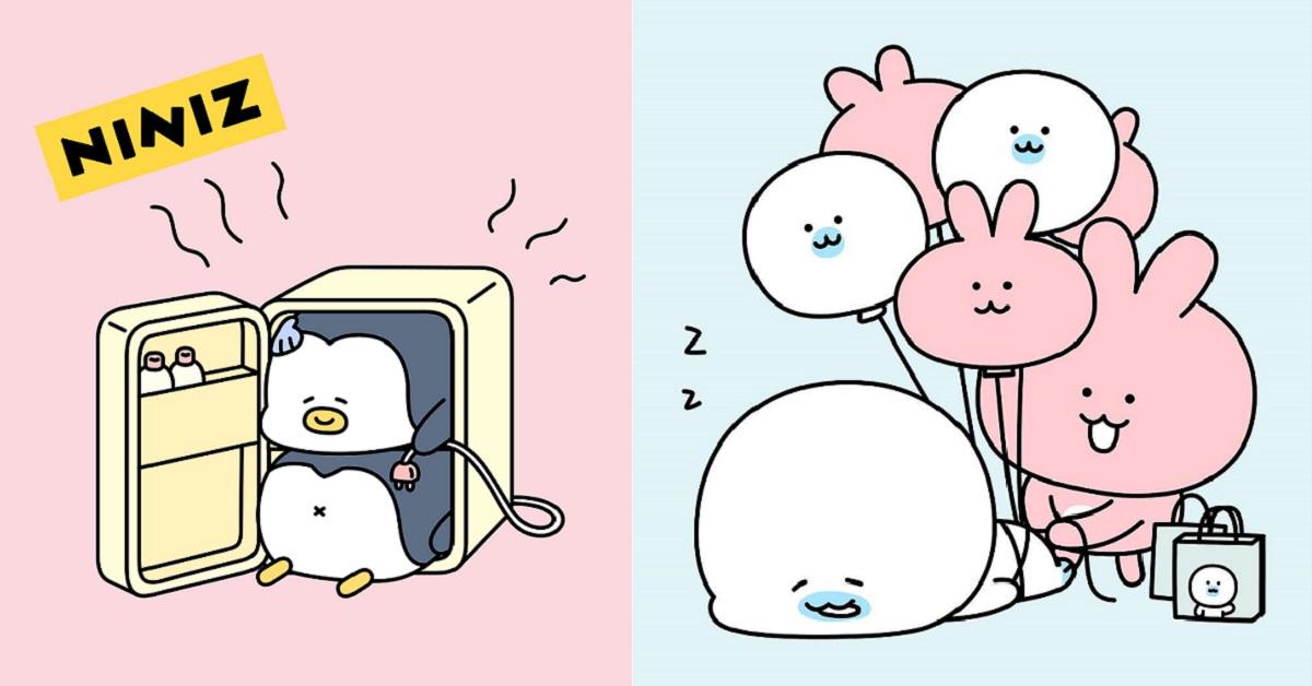 韓妞最近超愛的Kakao角色是他們!圓滾滾海豹和雙胞胎企鵝,你怎能不知道?