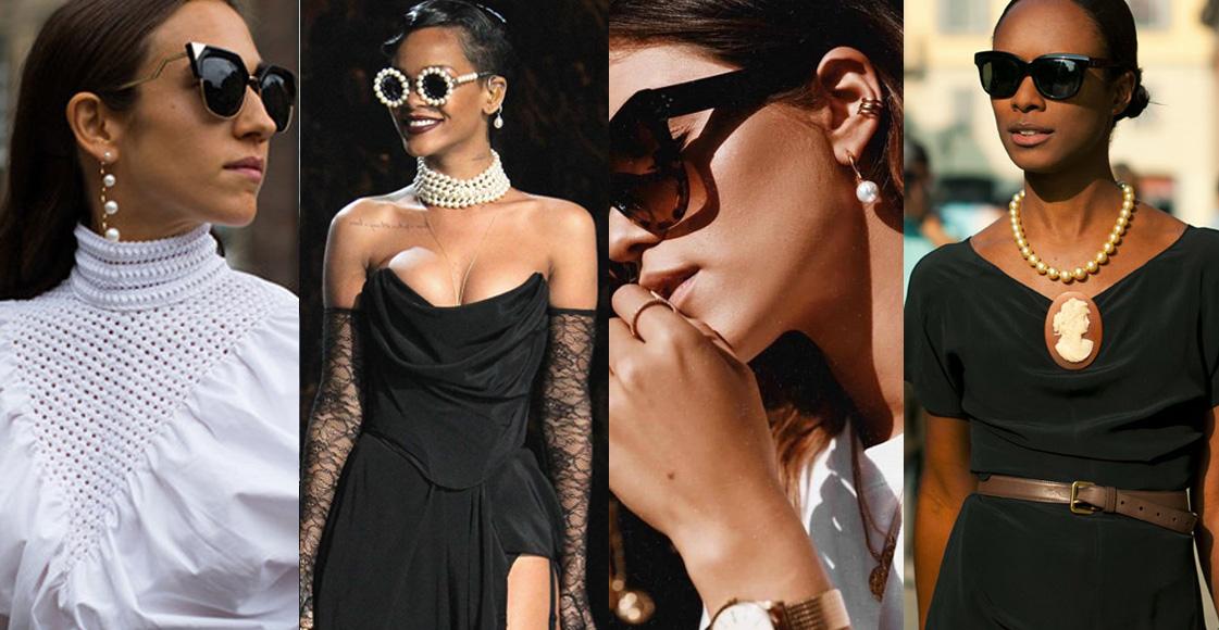 2019最夯的飾品就是「珍珠」!看蕾哈娜、IG潮人們翻玩珍珠的搭配示範