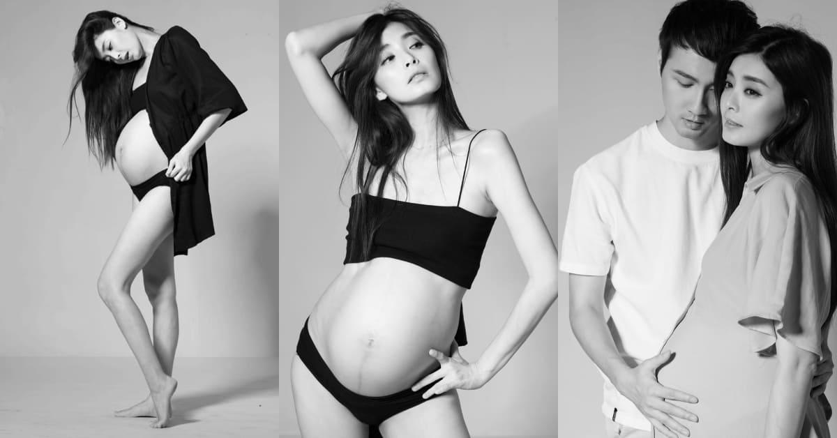 夏如芝懷孕8個月曬孕婦寫真,粉絲力讚:2020最美孕婦