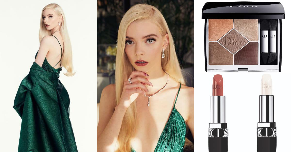 《后翼棄兵》女主角安雅泰勒喬伊金球獎摘后冠!後台直擊Dior彩妝清單,精靈系妝容這樣畫