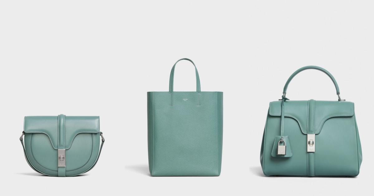 Celine熱賣包款通通換上「湖水綠」新衣!溫柔又優雅的「綠」質感激增