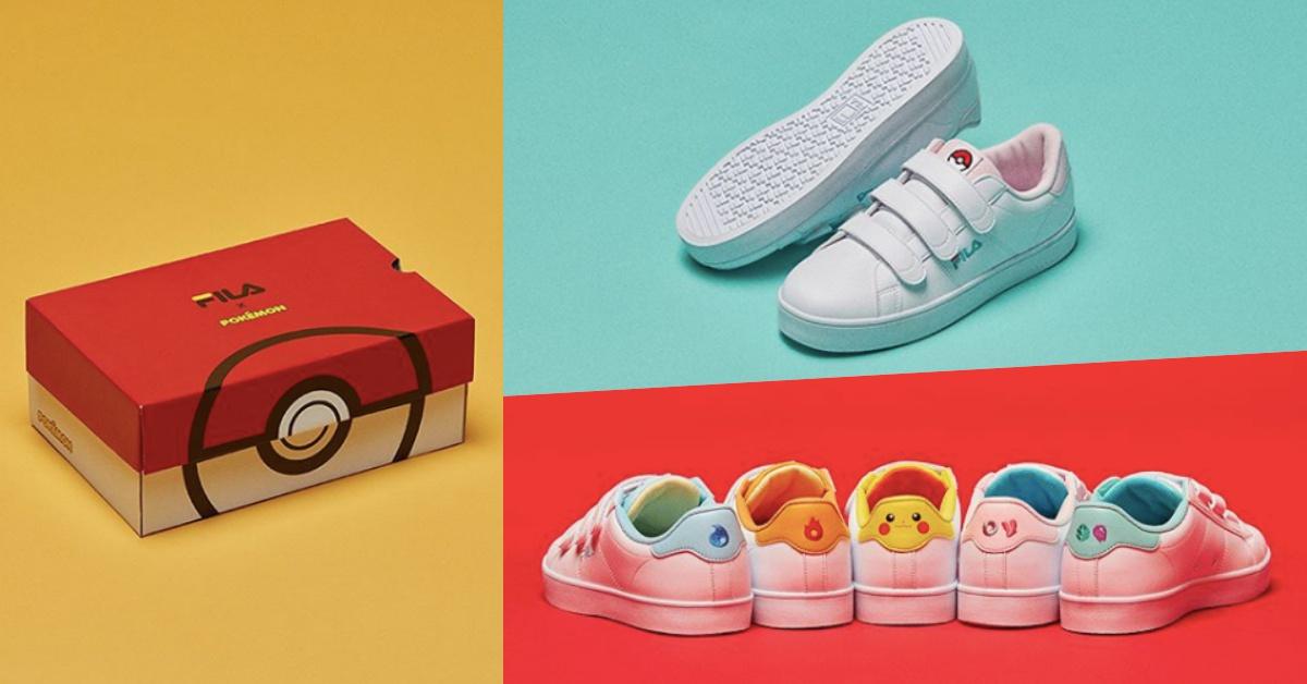 錢包要被收服啦!FILA與寶可夢聯名推出韓國限定「神奇寶貝鞋」就要萌死你