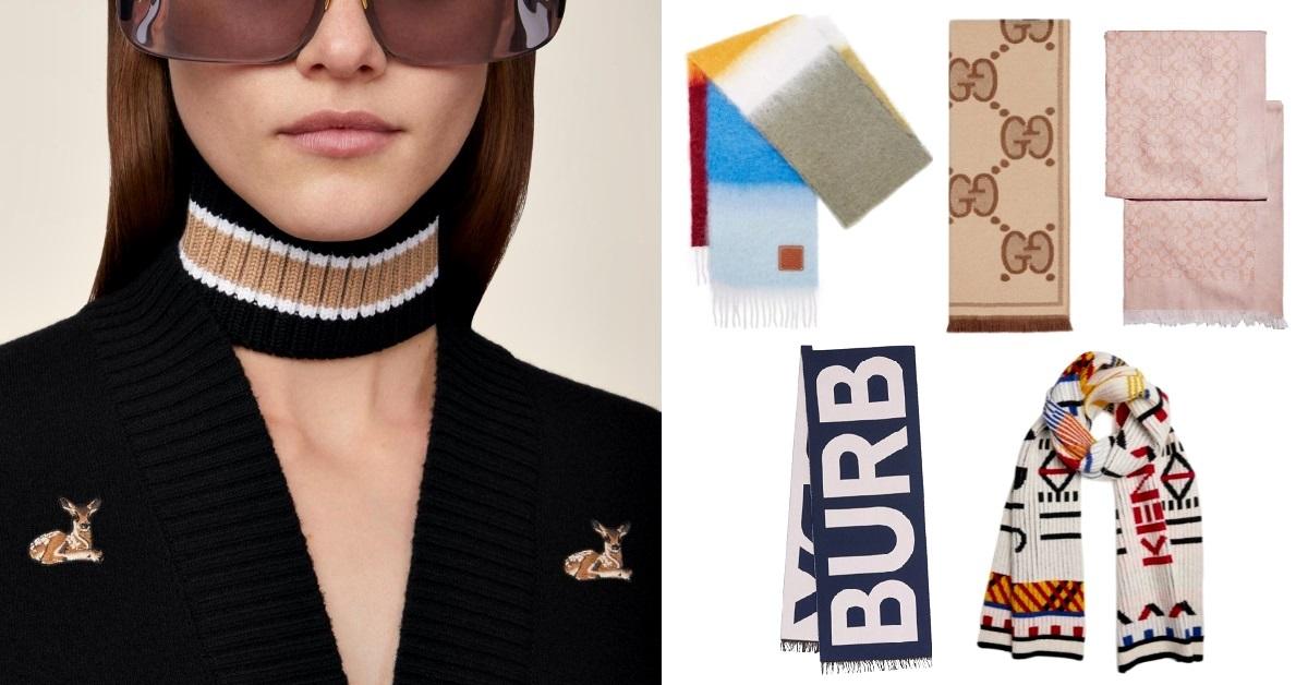 「圍巾Burberry」紅到變成關鍵字!LV、Gucci、Loewe...8款精品圍巾溫暖推薦!