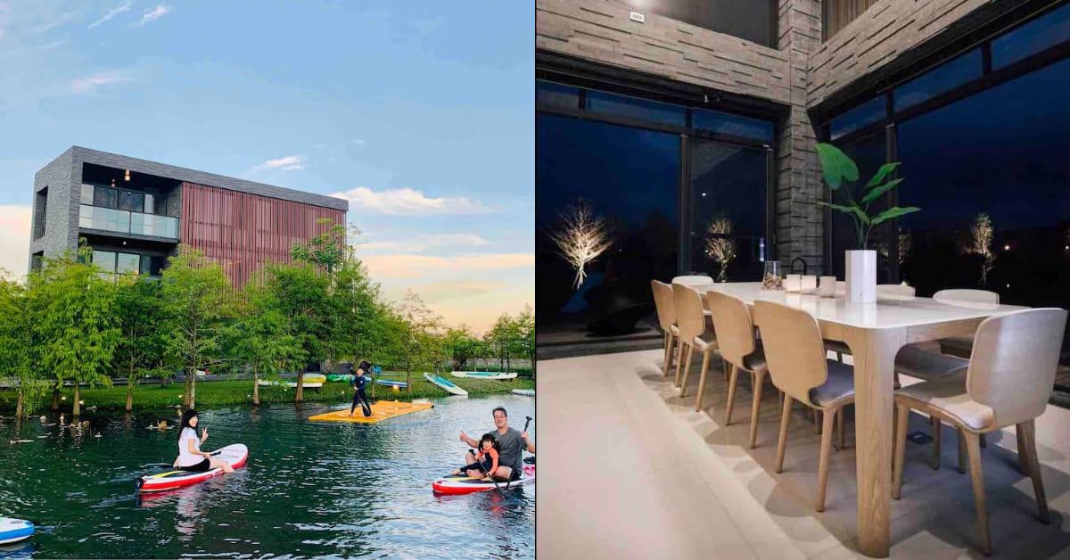 宜蘭民宿推薦「HA House 秋」!簡潔建築如湖中之島,落雨松、湧泉池都盡收眼底