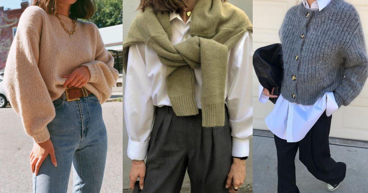 毛衣穿搭也能超顯瘦!歐美女孩的「4招穿搭公式」,把基本款穿出街拍感