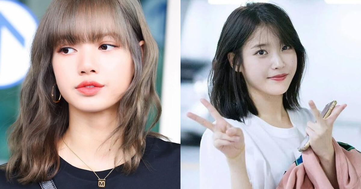 秋天髮型推薦!韓國女星Lisa、IU都用「鎖骨剪」遮肉臉、渡過髮型尷尬期