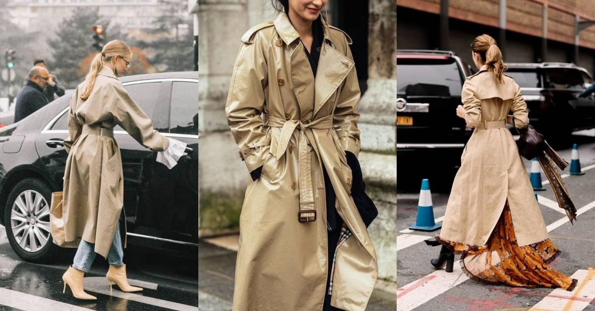 冬天必備的長風衣怎麼穿出好比例?抓住這3個關鍵,矮個子也能變長腿妹