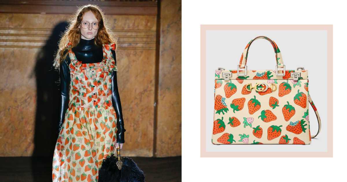 Gucci也瘋草莓季?經典包款加趣味草莓圖案讓妳時髦的很可愛