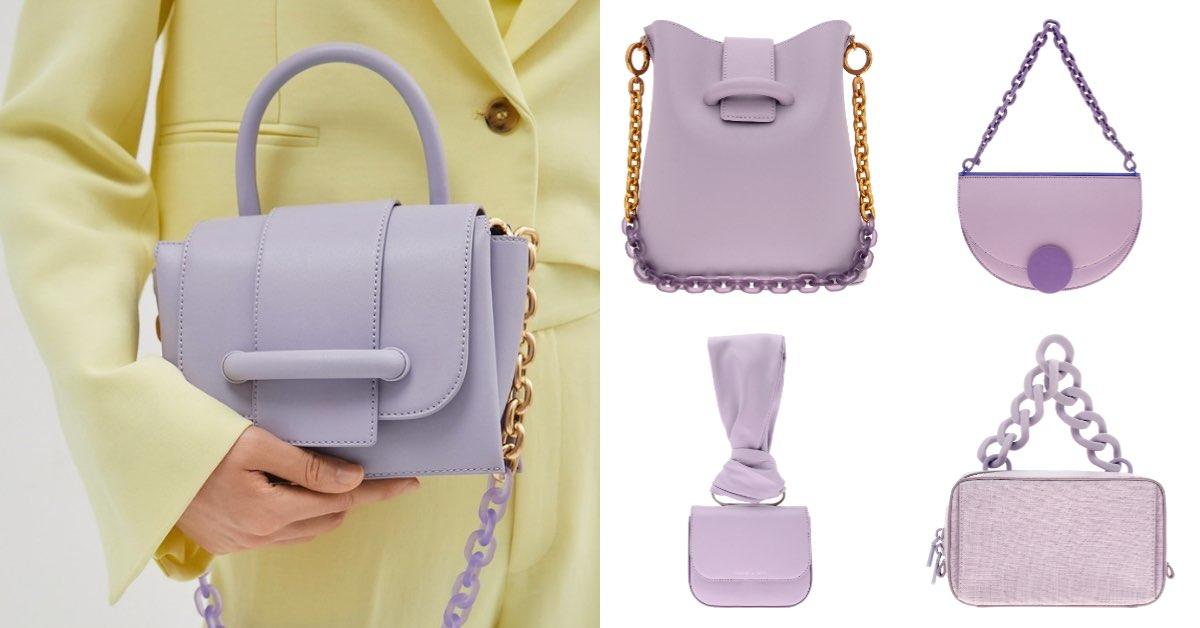 Charles & Keith包包紫色系推薦Top 6!水桶包 、小方包 、幾何翻蓋半圓包...全部3000元有找!