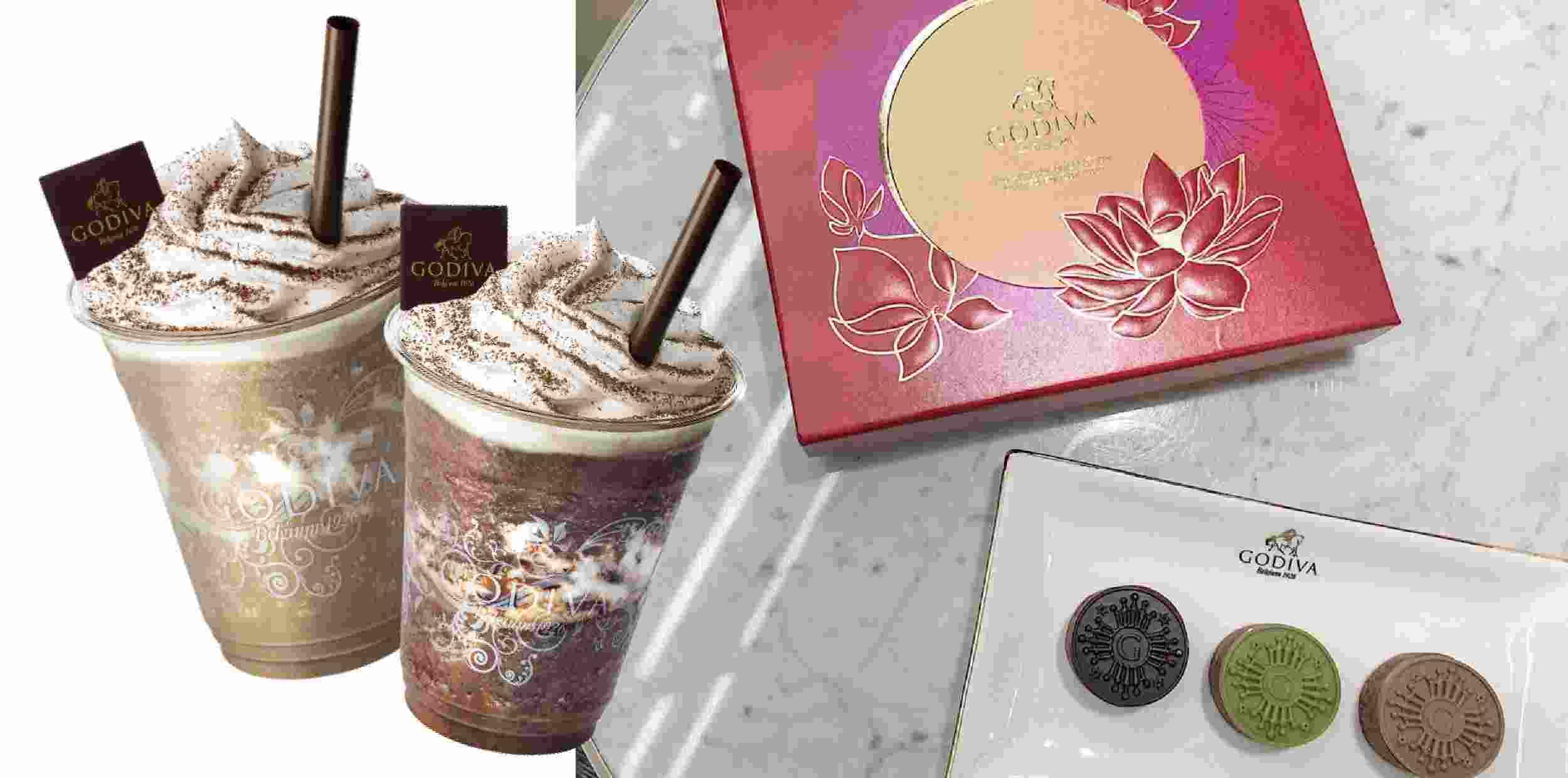 GODIVA新品「錫蘭茶72%黑巧克力凍飲」、「焙茶白巧克力凍飲」,不死甜飲品登場!加碼巧克力月餅也必買
