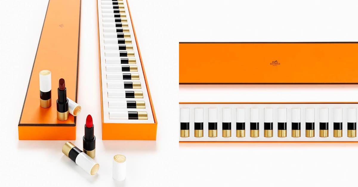 愛馬仕彩妝代購搶這款!24色唇膏鋼琴日本限定搶先販售,包包1/4價格無痛入手
