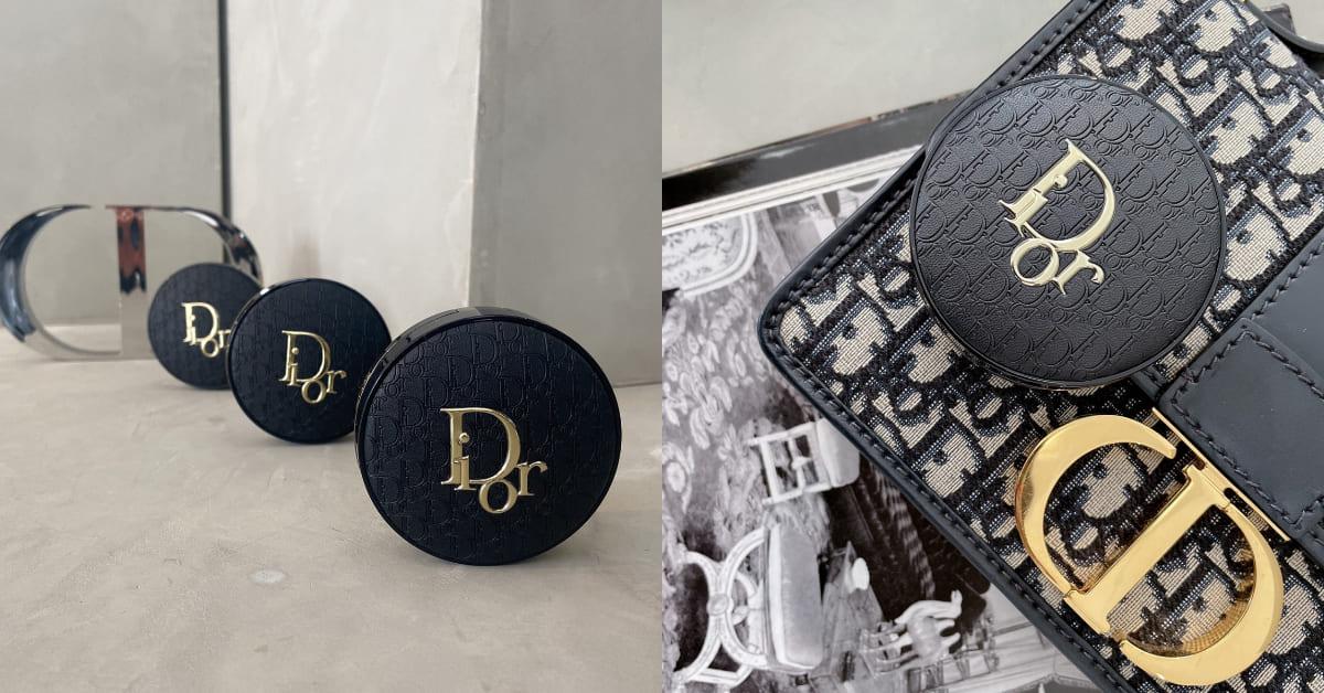 """Dior氣墊粉餅也要來"""" 老花""""! 限量霧光皮革氣墊終於登台,根本就像拎著手拿包"""