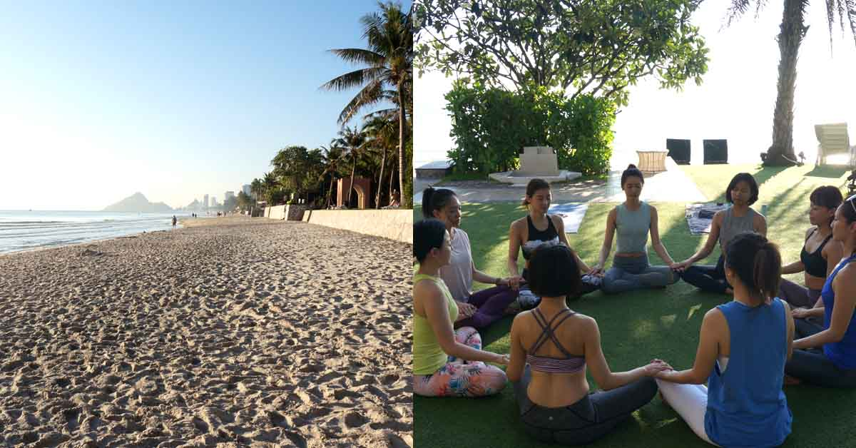 閨蜜小旅行超夯去處!到泰國華欣看著海體驗「沙灘瑜珈」