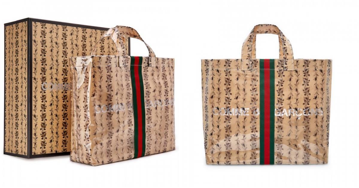 Gucci跟川久保玲再推聯名!牛皮紙袋包2.0多了花朵設計,準備成為下個爆款