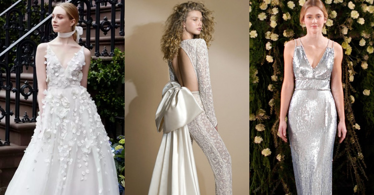 2019年婚紗趨勢:金屬光澤、蝴蝶結、帥氣褲裝!準新娘快快筆記