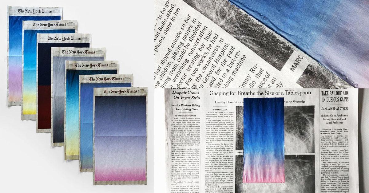 IG上一夕爆紅的報紙?日籍設計師將《紐約時報》塗上夢幻漸層色,背後原因是...