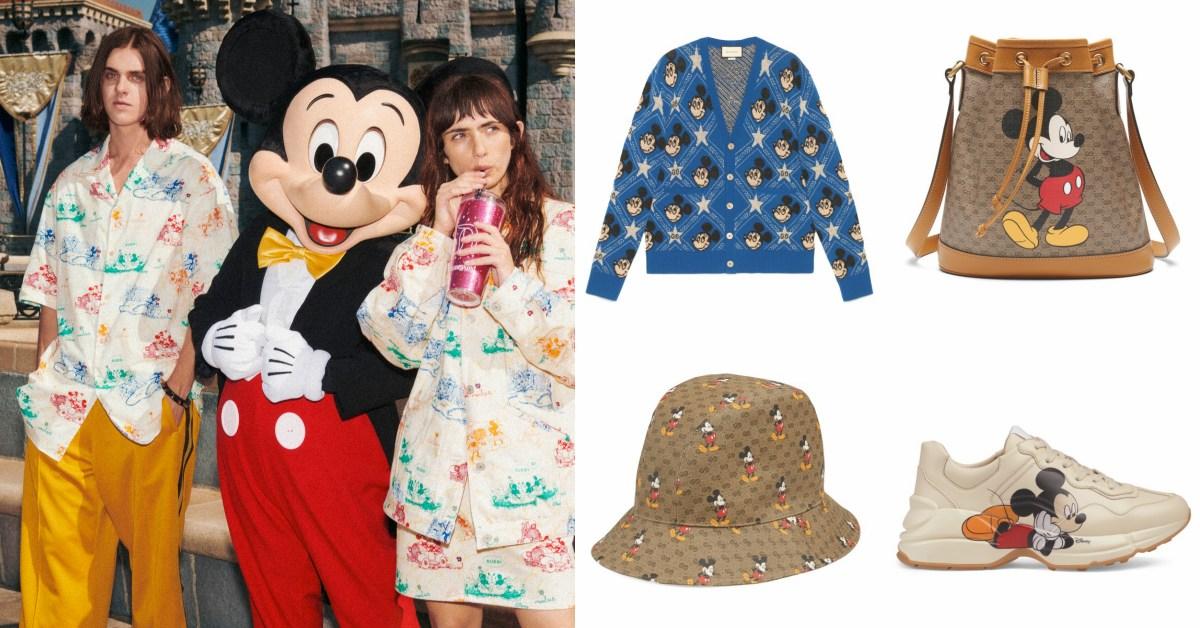 到迪士尼拍時尚大片?老爹鞋、手鏈到老花包,Gucci米奇鼠年限定單品真的太可愛!