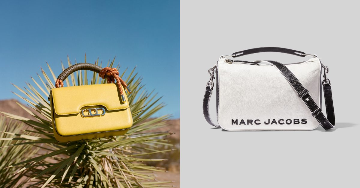 Marc Jacobs相機包遇對手!Logo包全新登場,萊姆黃、梨子褐,2021開運色就是它們