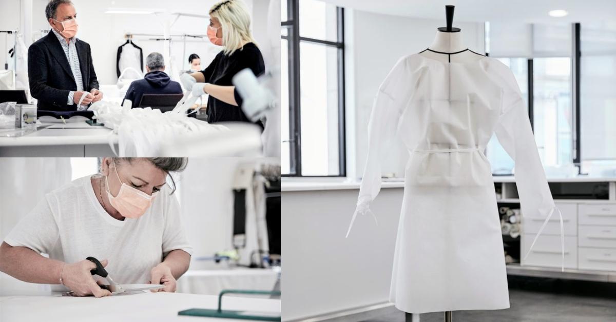 全球最美「防護衣」誕生!LV工坊投入法國防疫國家隊,每件都是高級訂製服等級!