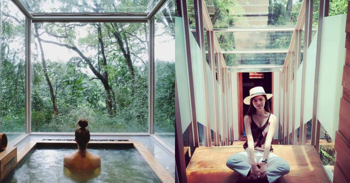 苗栗秘境民宿!「樹也ChooArt Villa」與自然共生,三面玻璃落地窗一邊泡湯一邊看星星!