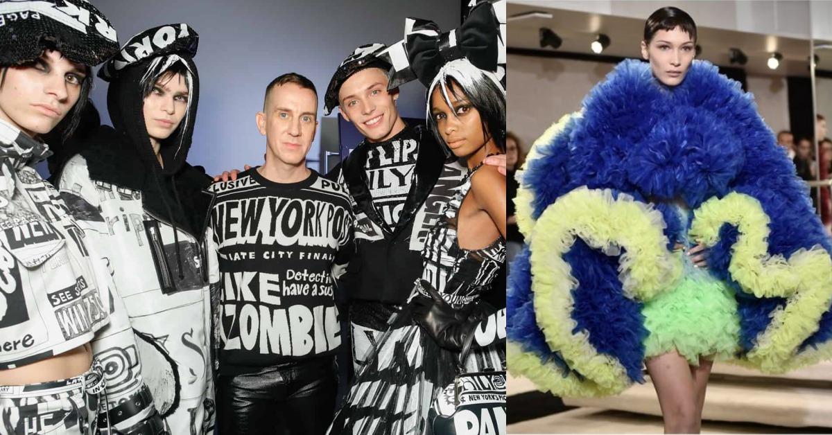 紐約時裝周亮點!Jeremy Scott報紙頭條變衣服、阿嬤級超模搶版面