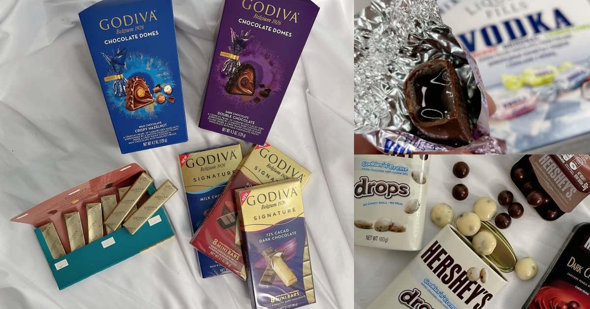 """7-11巧克力推薦這個!10款巧克力新品,Godiva一條只要20元,""""酒鬼""""不能給他吃Vodka"""