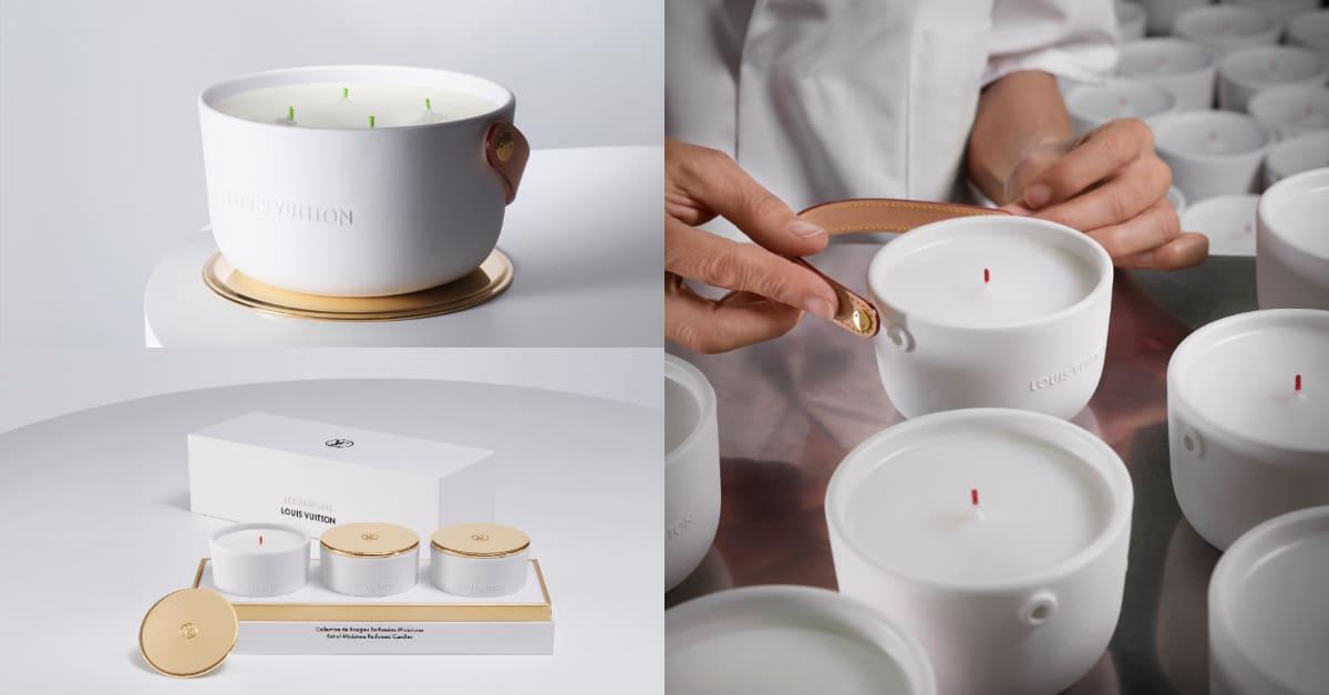 LV居家香氛蠟燭翻玩泡麵鍋?全新迷你組、1.1kg巨型蠟燭皮革提把宛如精品包