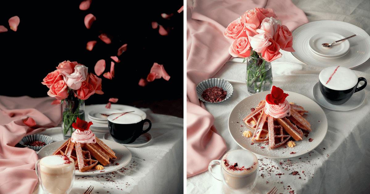 吃滿嘴玫瑰花瓣好香!鮮花變成鬆餅、慕斯 「RÊVE黑浮咖啡」推3款春日甜品!