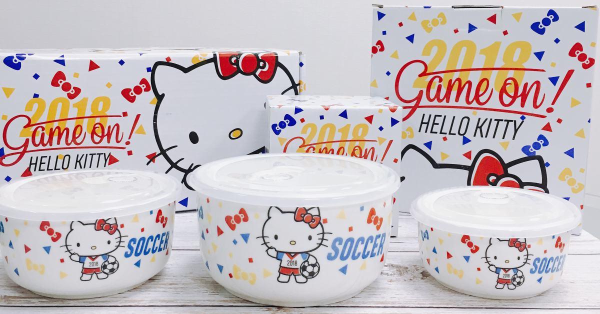 連凱蒂貓都加入瘋世足行列!全聯與Hello Kitty推出超萌餐盤組,不收實在太可惜!