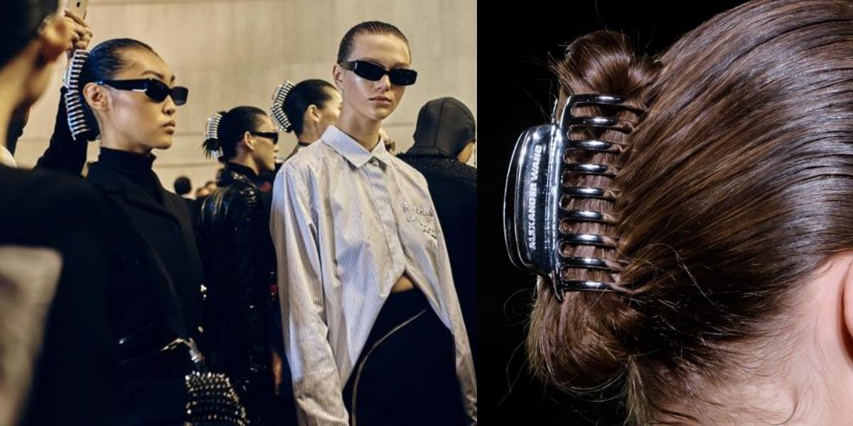 【紐約時裝周】快去翻媽媽梳妝台!Alexander Wang大秀宣告「鯊魚夾」重返時尚舞台