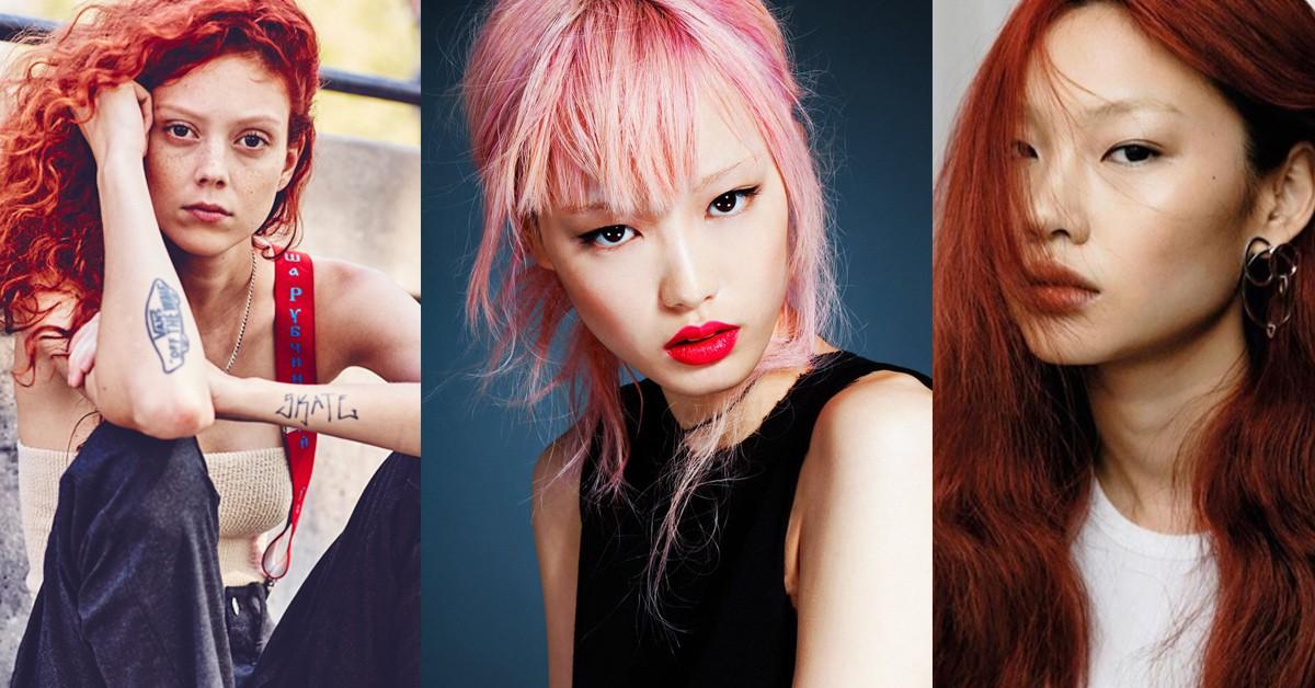 除了Irene Kim的精采髮色外,這些模特兒同樣用特殊髮色闖蕩時尚圈