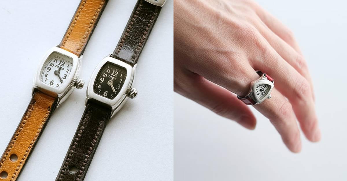 戴在手指上的錶?日本超迷你「手錶戒指」,訓練你視力的時間到了