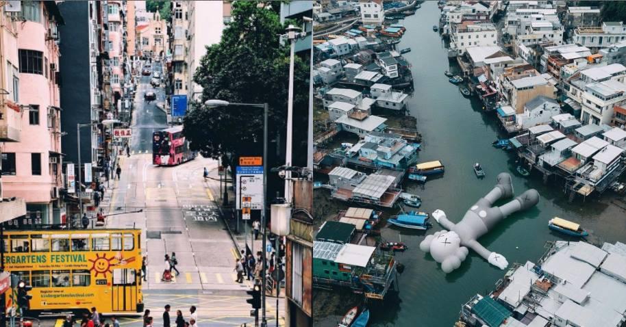 KAWS的37米公仔空降維多利亞港!再推薦7個香港網美打卡新點