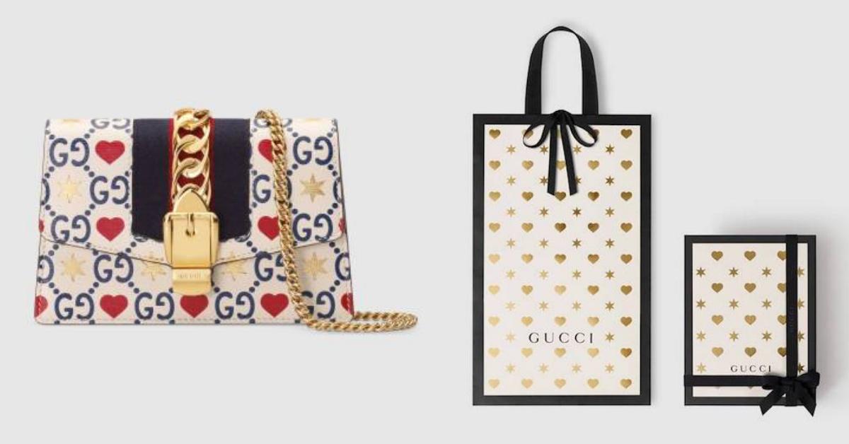 Gucci七夕情人節來放火!鏈帶包、小白鞋,甚至是包裝全都爬滿愛心