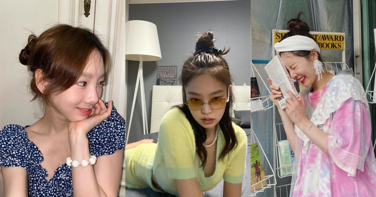 2020俏皮丸子頭髮型推薦!長髮、中長髮想消暑跟著太妍、BLACKPINK Jennie這樣綁