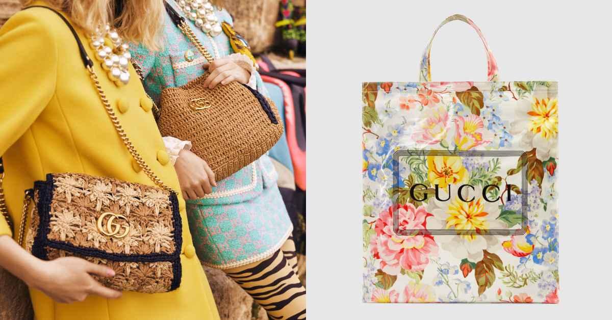 Gucci新品讓人好想度假!帶夢幻極美花朵防水袋、編織肩背包去海邊比美