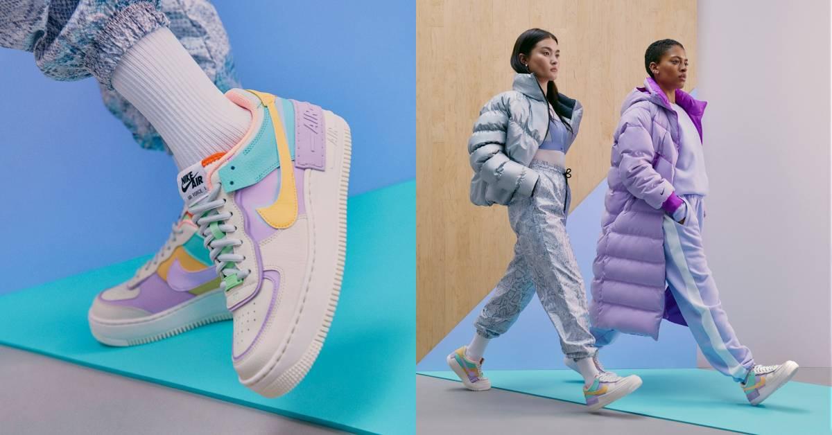 Nike小白鞋進化!AirForce微增高鞋底配「馬卡龍」撞色美到連男友都想跟妳搶!