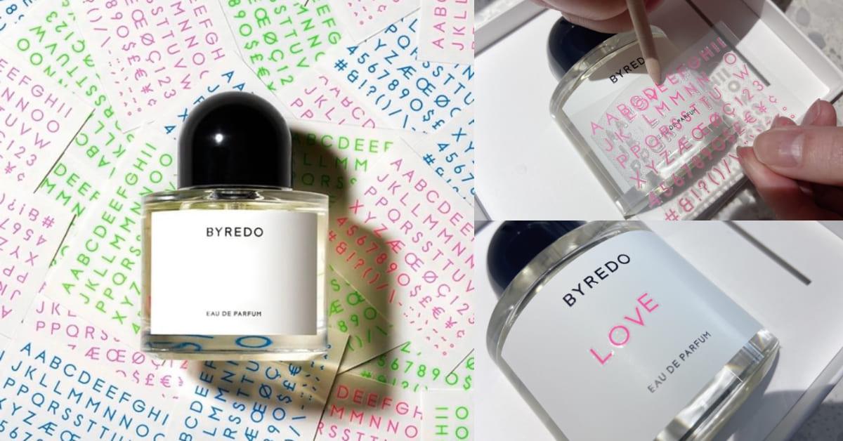 香水也能替你傳情話!BYREDO情人節「無名香水」,用字母寫下你的專屬香味