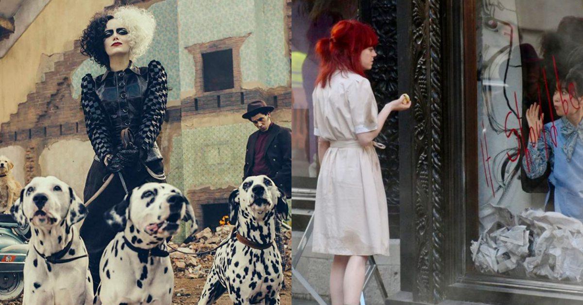 艾瑪史東主演迪士尼真人電影《庫伊拉》!最時髦反派海報、全新紅髮片場照曝光