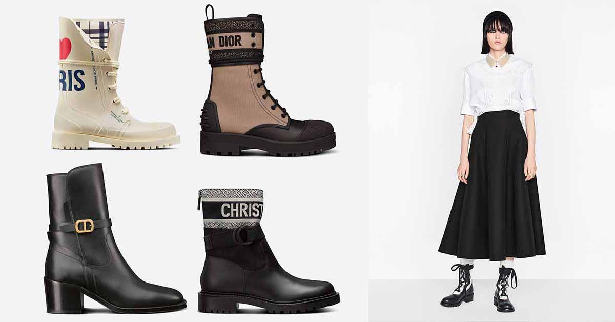 2021年秋冬Dior靴子推薦Top10,防水橡膠、率性軍靴、老花鞋面...可甜可鹽超百搭!