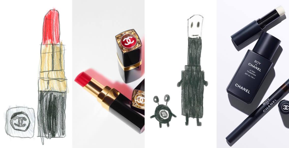 原來小朋友眼中的唇膏、香水長這樣?香奈兒最新廣告孩子手繪版美妝太可愛了