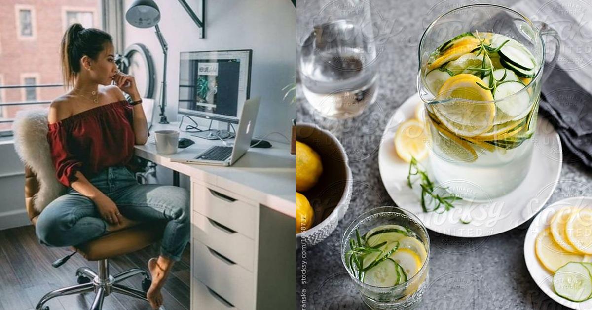 久坐辦公室導致下半身肥胖!7款超簡單消腫瘦身茶,小黃瓜檸檬你不能沒有它!