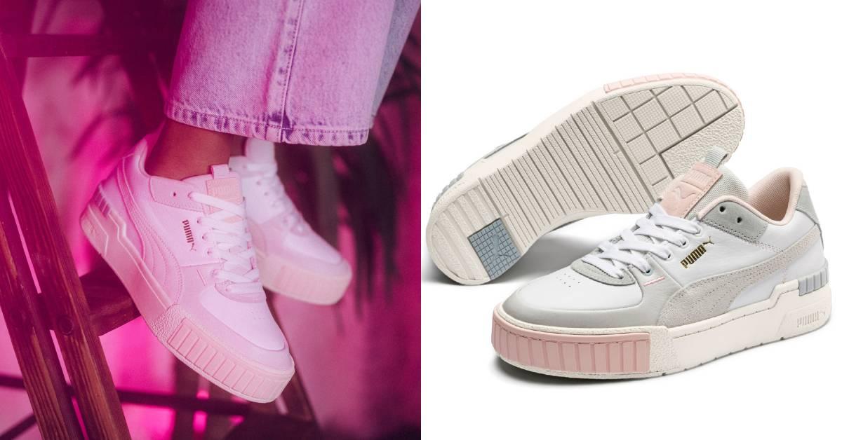 Puma推增高「莓果奶昔」小白鞋!粉嫩色配復古元素設計,重點是還能長高!