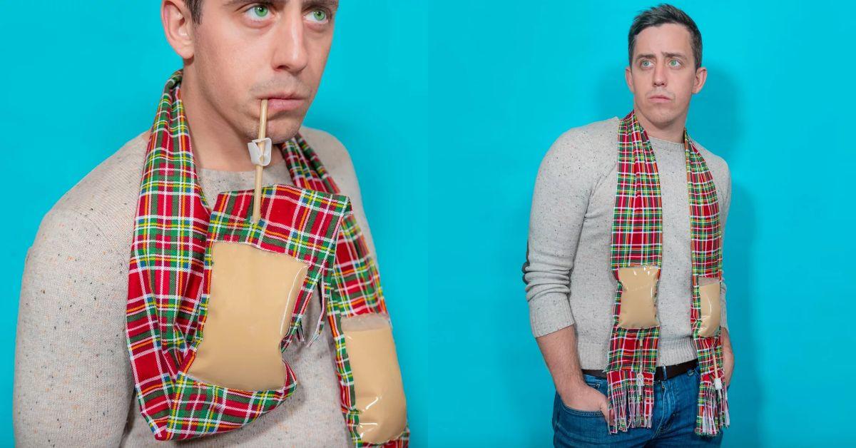 這圍巾不單純!「專產廢物」公司推暢飲圍巾,來看這3樣為酒鬼發明的獵奇小物
