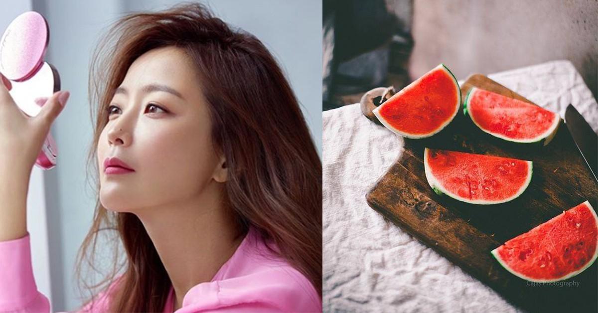 西瓜紅了,肌膚回春有救了!韓國美魔女金喜善抗老、防曬都靠這樣水果