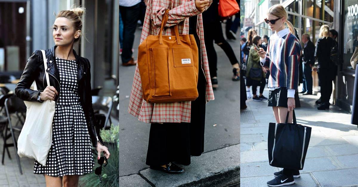 小資女買不起透明包沒有關係,三種帆布包一樣能撐起妳的時尚造型