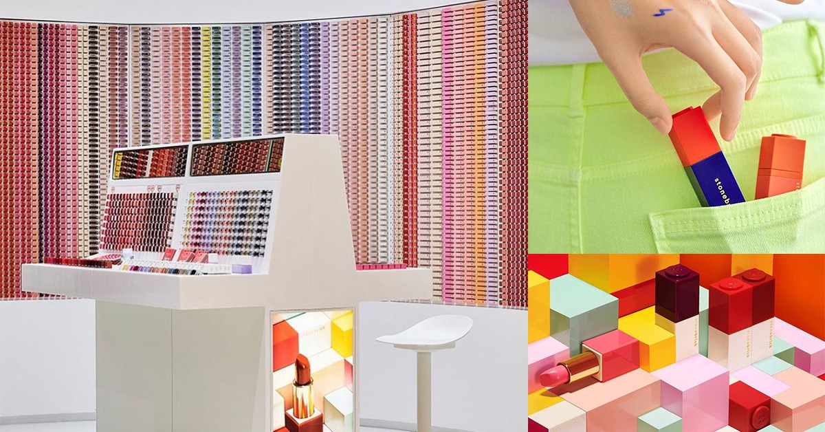 韓國新彩妝Stonebrick推出超夯「樂高唇膏牆」!彩虹配色、DIY組裝、小資價超吸引人