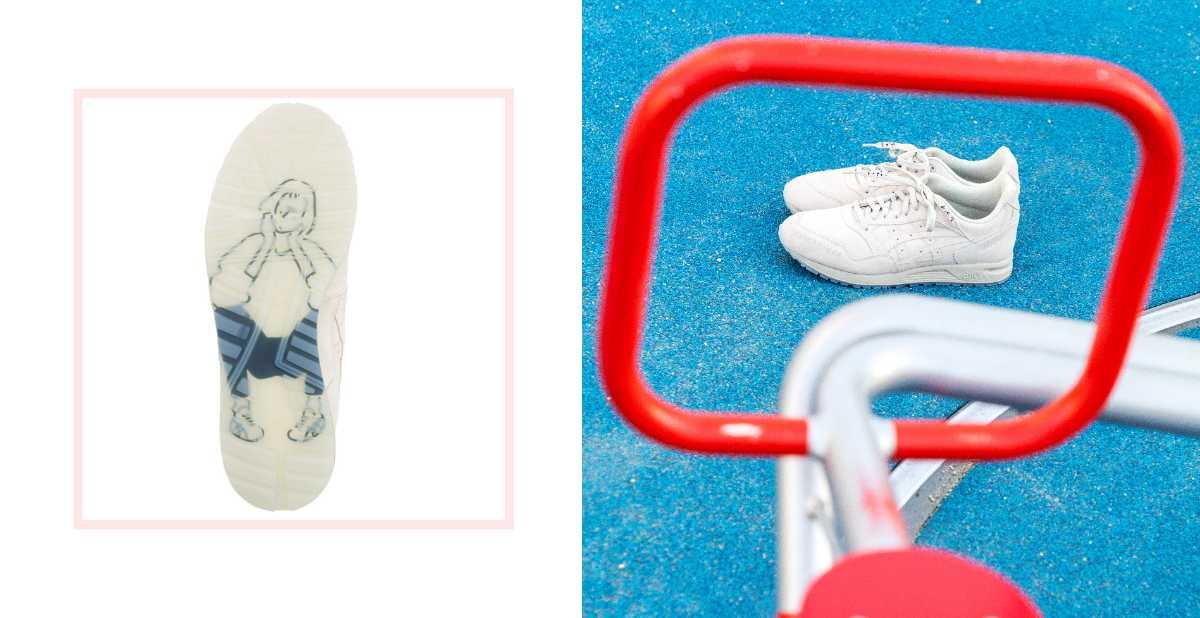 亞瑟士與日本人氣畫家合作!看似普通的小白鞋,甜甜的秘密藏在鞋底