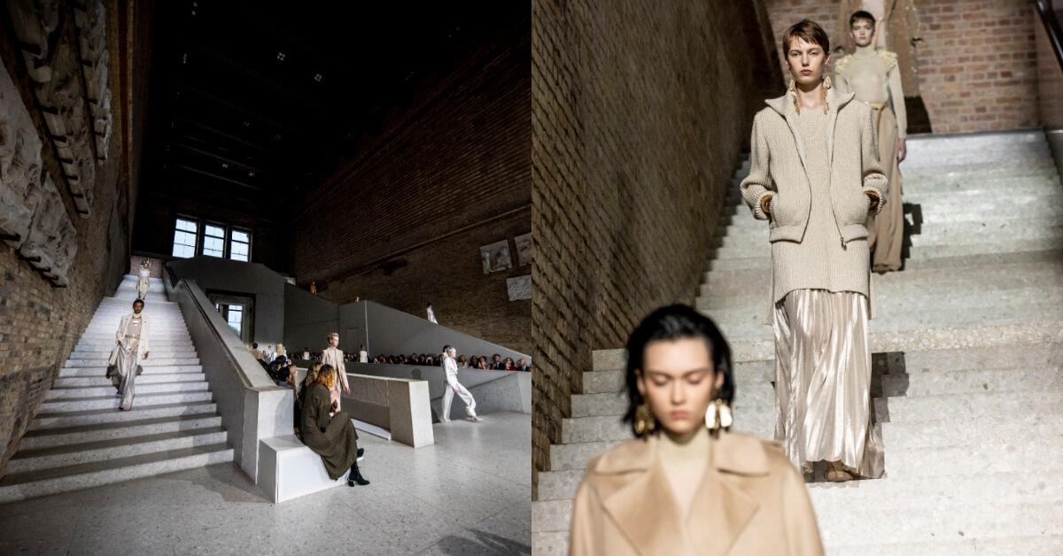 Max Mara 2020早春慶祝柏林圍牆倒塌30周年,成為首個在柏林新博物館舉辦時裝大秀的品牌
